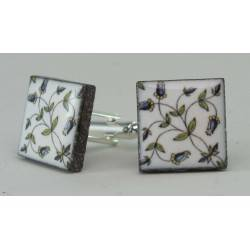 Cufflinks with enamelled lava lapilli (Amalfi Coast design)