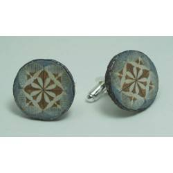 Cufflinks with enamelled lava lapilli (the maiolica)