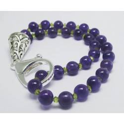 Bracelet with amethyst and peridot